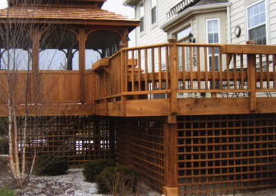 Cedartone Deck, Gazebo, Lattice-L