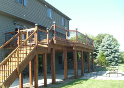 Deck and staircase treated-L