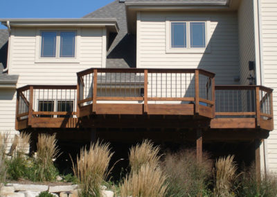 Elevated deck after treatment-L