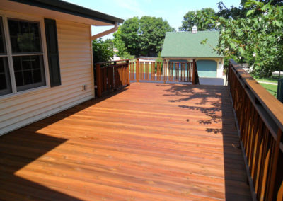 Kids Express after staining cedartone gold-L