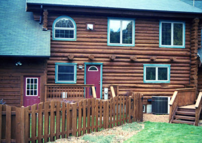 Russet Brown Logs and Fence-L
