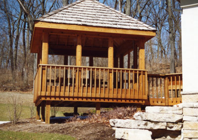 cedartone gazebo clear roof-L
